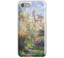 Claude Monet - Gardens Of The Villa Moreno Impressionism Vintage  iPhone Case/Skin