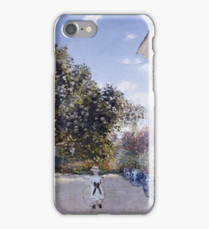 Claude Monet - Garden Of The Artist At Argenteuil 1873 Impressionism iPhone Case/Skin
