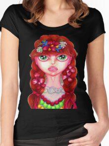 "Girl Polish Dancer ""Krakowianka"" Women's Fitted Scoop T-Shirt"
