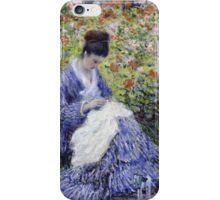 Claude Monet - Camille Monet And A Child In The Artist S Garden In Argenteuil 1875 Impressionism iPhone Case/Skin