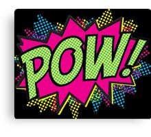 Pow!  Cartoon Sound Effect Canvas Print