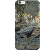 Claude Monet - Bathers At La Grenouillere 1869 iPhone Case/Skin