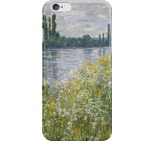 Claude Monet - Banks Of The Seine, Vétheuil 1880 iPhone Case/Skin