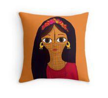 Maleha In Burqa Throw Pillow