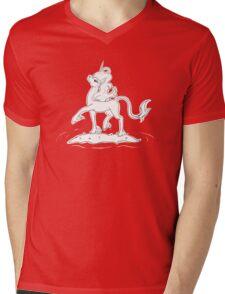 Lonely Unicorn Mens V-Neck T-Shirt