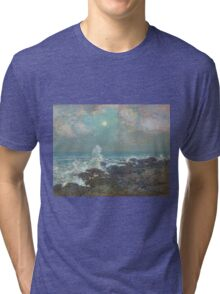 Vintage famous art - Childe Hassam - Seascape-Isle Of Shoals Tri-blend T-Shirt