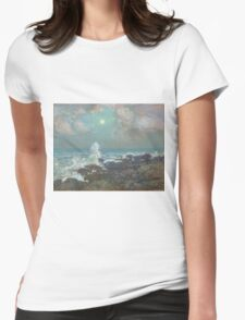 Vintage famous art - Childe Hassam - Seascape-Isle Of Shoals Womens Fitted T-Shirt