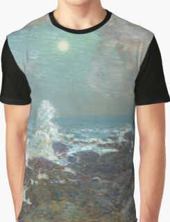 Vintage famous art - Childe Hassam - Seascape-Isle Of Shoals Graphic T-Shirt