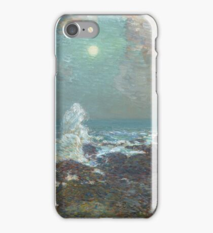 Vintage famous art - Childe Hassam - Seascape-Isle Of Shoals iPhone Case/Skin