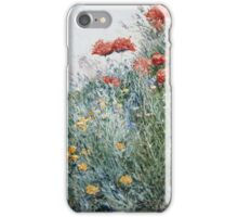 Vintage famous art - Childe Hassam - Poppies, Appledore iPhone Case/Skin