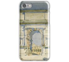 Vintage famous art - Charles Rennie Mackintosh  - Rome, Arch Of Titus iPhone Case/Skin