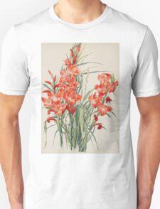 Vintage blue art - Charles Demuth - Red Gladioli Unisex T-Shirt