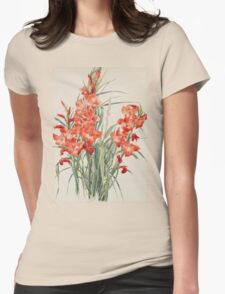 Vintage blue art - Charles Demuth - Red Gladioli Womens Fitted T-Shirt