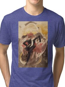 Vintage famous art - Charles Demuth - In Vaudeville (Dancer With Chorus) Tri-blend T-Shirt