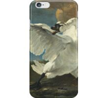 Vintage famous art - Jan Asselyn - The Threatened Swan iPhone Case/Skin