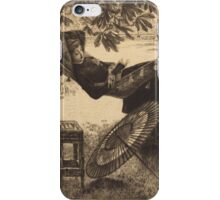 Vintage famous art - James Tissot - The Hammock  iPhone Case/Skin