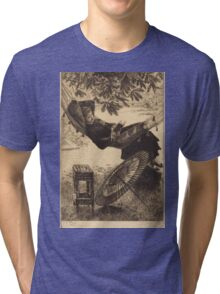 Vintage famous art - James Tissot - The Hammock  Tri-blend T-Shirt