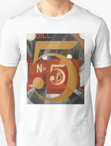 Vintage famous art - Charles Demuth - I Saw The Figure 5 In Gold Unisex T-Shirt