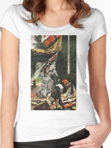 Vintage famous art - James Tissot - Still On Top Women's Fitted Scoop T-Shirt