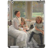 Vintage famous art - James Tissot - Smith Gill And Two Of Her Children iPad Case/Skin