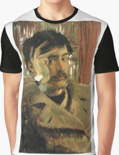 Vintage famous art - James Tissot - Self Portrait Graphic T-Shirt