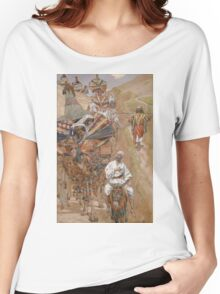 Vintage famous art - James Tissot - Rebecca Meets Isaac By The Way Women's Relaxed Fit T-Shirt