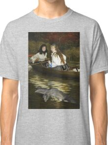 Vintage famous art - James Tissot - On The Thames, A Heron Classic T-Shirt
