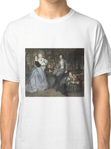 Vintage famous art - James Tissot - Portrait Of The Marquis And Marchioness Of Miramon And Their Children1865 Classic T-Shirt