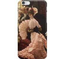 Vintage famous art - James Tissot - Political Woman iPhone Case/Skin
