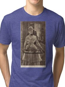 Vintage famous art - James Tissot - Le Matin (Morning)1886 Tri-blend T-Shirt