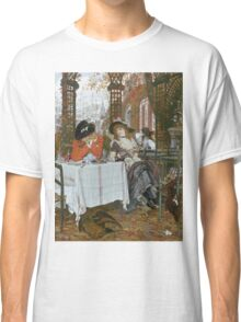 Vintage famous art - James Tissot - A Luncheon  Classic T-Shirt