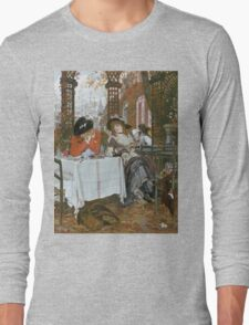 Vintage famous art - James Tissot - A Luncheon  Long Sleeve T-Shirt