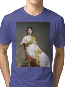 Vintage famous art - Jacques-Louis David - Portrait Of Madame Raymond De Verninac Tri-blend T-Shirt