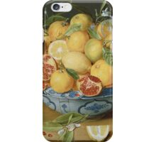Vintage famous art - Jacob Van Hulsdonck - Still Life With Lemons, Oranges And A Pomegranate 1620 iPhone Case/Skin