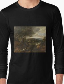 Vintage famous art - Jacques D Arthois - View Said To Be Of Val Duchesse Long Sleeve T-Shirt