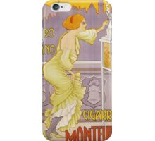Vintage famous art - J. Borro - Montevideo Cigarrillos Poster iPhone Case/Skin