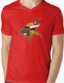 Minnesota Wild Vikings Mens V-Neck T-Shirt