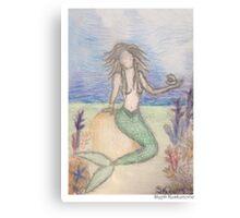 Mermaid Under The Sea  Canvas Print