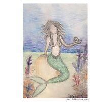 Mermaid Under The Sea  Photographic Print