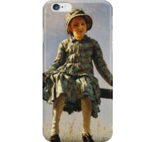 Vintage famous art - Ilya Repin - Dragonfly Painter S Daughter Portrait iPhone Case/Skin