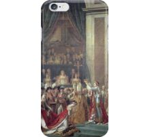 Vintage famous art - Jacques-Louis David - The Consecration Of The Emperor Napoleon And The Coronation Of The Empress Josephine  iPhone Case/Skin