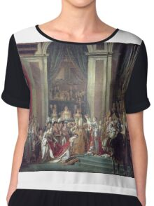 Vintage famous art - Jacques-Louis David - The Consecration Of The Emperor Napoleon And The Coronation Of The Empress Josephine  Chiffon Top