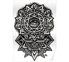 Eye of God Flower Mandala Poster