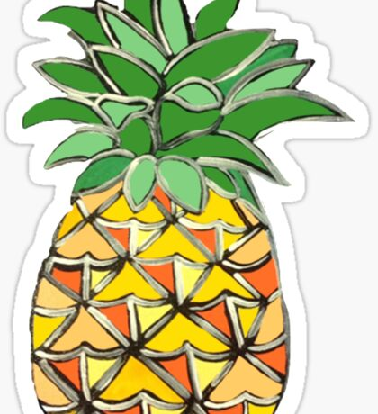 Picasso Pineapple Sticker