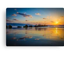 Sunset over the mediterranean sea, Haifa, Israel  Canvas Print