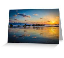 Sunset over the mediterranean sea, Haifa, Israel  Greeting Card