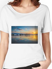 Sunset over the mediterranean sea, Haifa, Israel  Women's Relaxed Fit T-Shirt