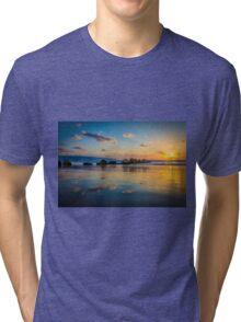 Sunset over the mediterranean sea, Haifa, Israel  Tri-blend T-Shirt