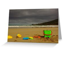 Building Castles In A Storm Greeting Card