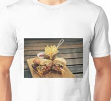 Steak Sandwich with Cajun Fries Unisex T-Shirt